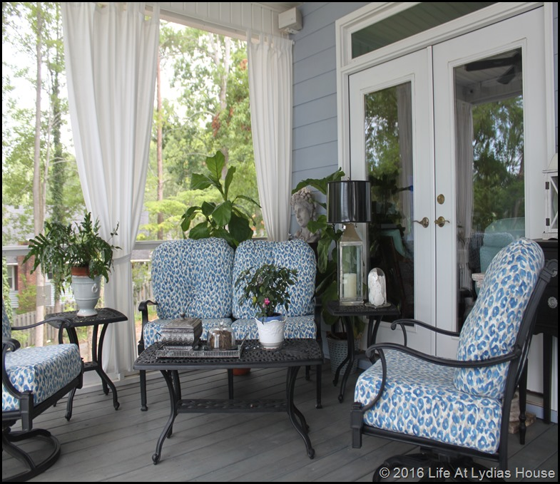 porch furniture with new fabric