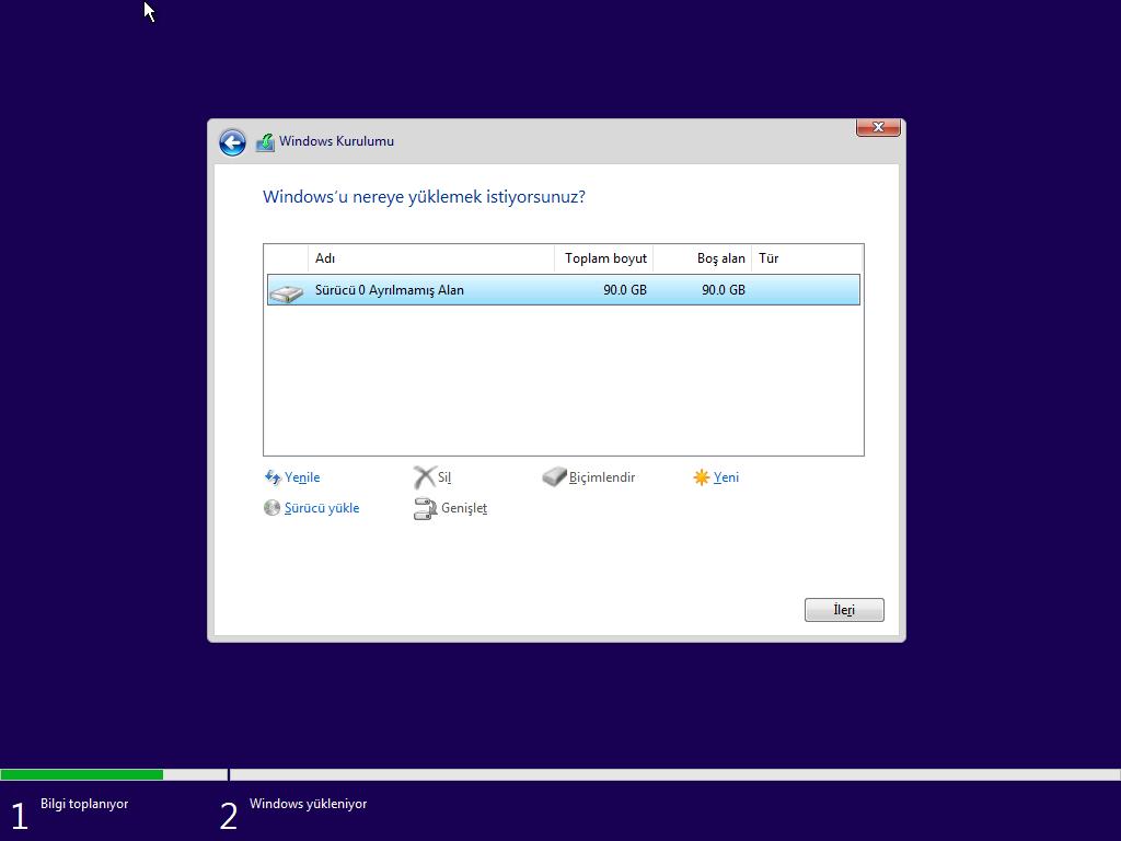 Windows 10 - Tüm Sürümler Tek DVD Türkçe (MSDN) - REDSTONE 5