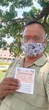 टीकाकरण कराने के बाद समाजसेवी सुनील जायसवाल ने जनमानस से की अपील
