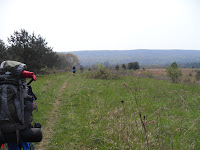 Nearing the end of the hike -- an open field
