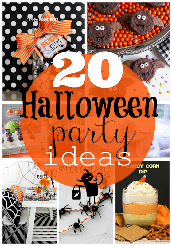 20 Halloween Party Ideas at GingerSnapCrafts.com #halloween #partyideas #party