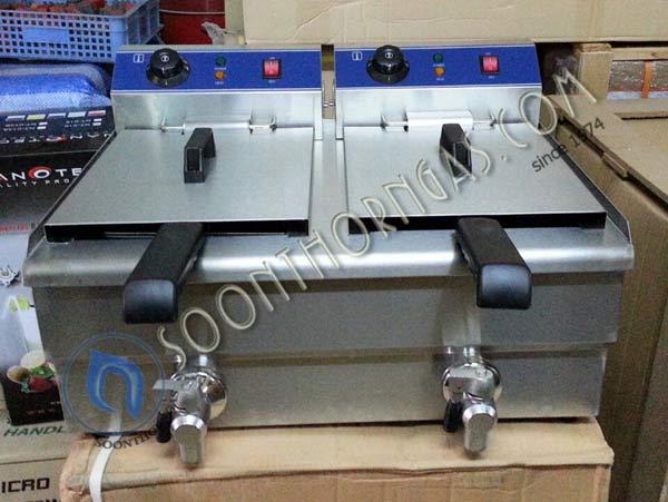 เตาทอดไฟฟ้า 2 อ่าง (10+10 ลิตร) Model : A101224