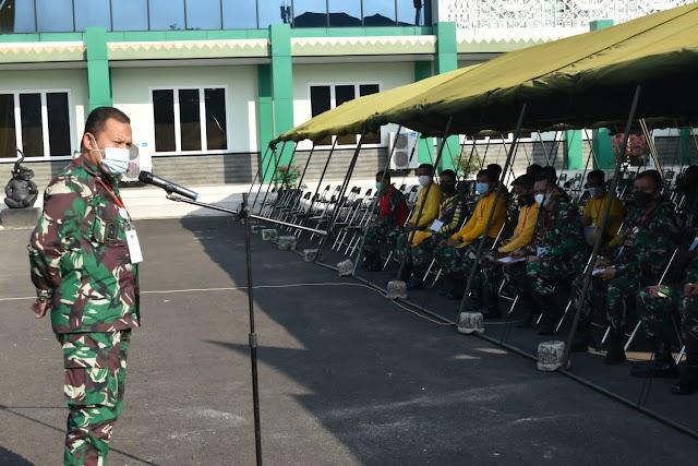 Kasrem 043/Gatam Beri Arahan Kepada Panitia Penerimaan Caba PK TNI-AD