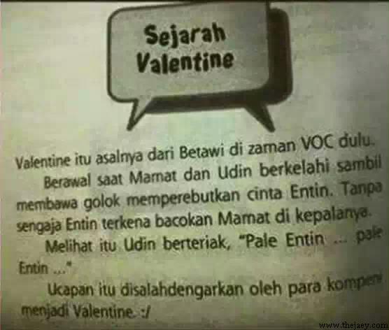 Ternyata, Sejarah Valentine itu Dari Betawi