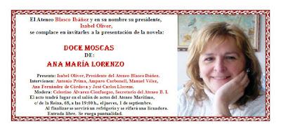 "Presentación del libro ""Doce moscas"", de Ana María Lorenzo"