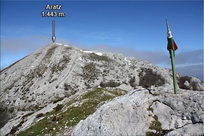 Aratz visto desde Allarte