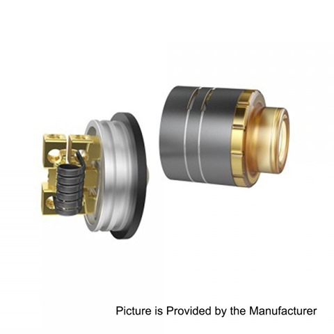 authentic-voopoo-demon-rda-rebuildable-dripping-atomizer-black-aluminum-brass-24mm-diameter