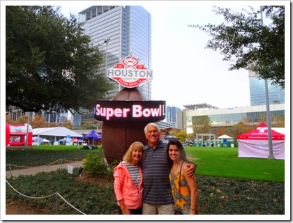 us and Super Bowl sign