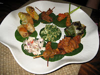 Amazing Indonesian tapa platter at Nomad - Ubud