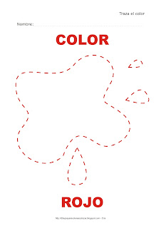 Dibujo para delinear y trazar el color rojo