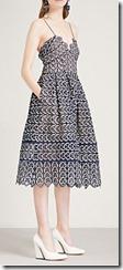 Self Portrait Sweetheart Crochet Lace Midi Dress