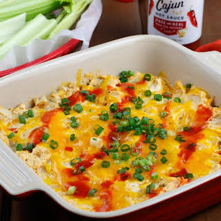 Cajun Buffalo Chicken Dip.