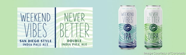 Coronado Brewing Debuting Weekend Vibes & Never Better 16oz Cans Year-Round