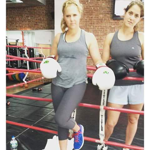 Amy Schumer comedian dp pic with boxing style