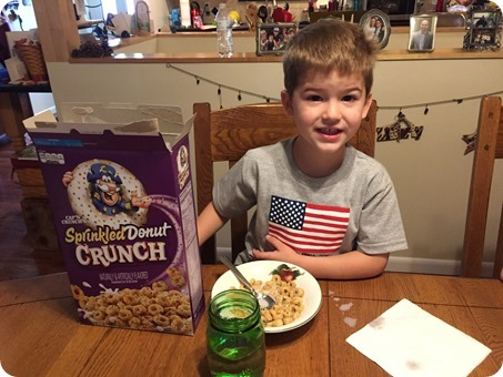 Nolan's Fifth Birthday Cereal