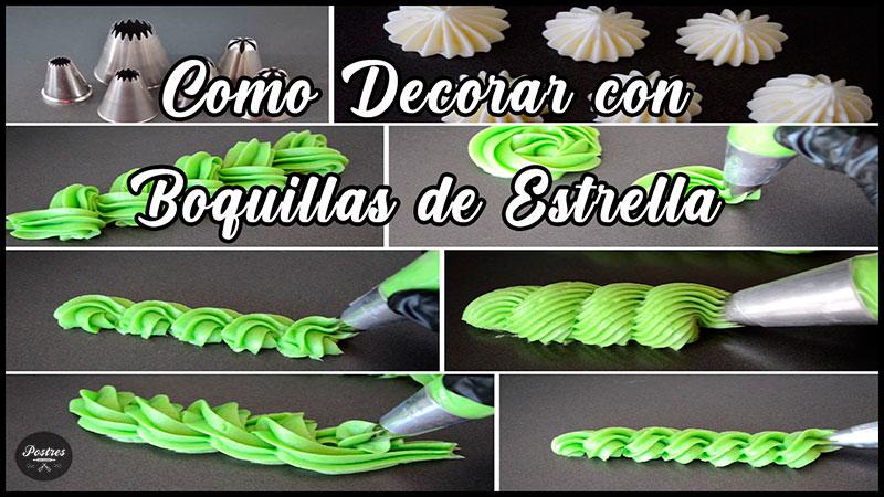 tutorial decoraciones con manga pastelera