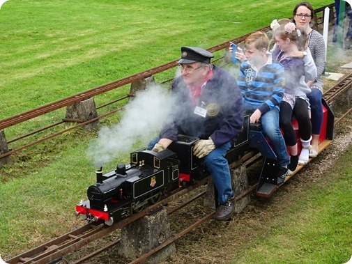 Visitors enjoy their miniature-gauge steam train ride  (2)