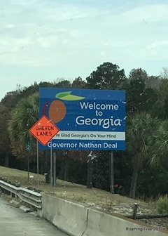 Passing through Georgia