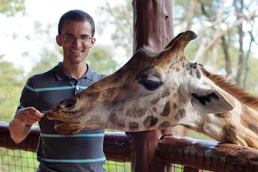 Feeding a giraffe, Nairobi Giraffe Centre, Kenya © Matt Prater
