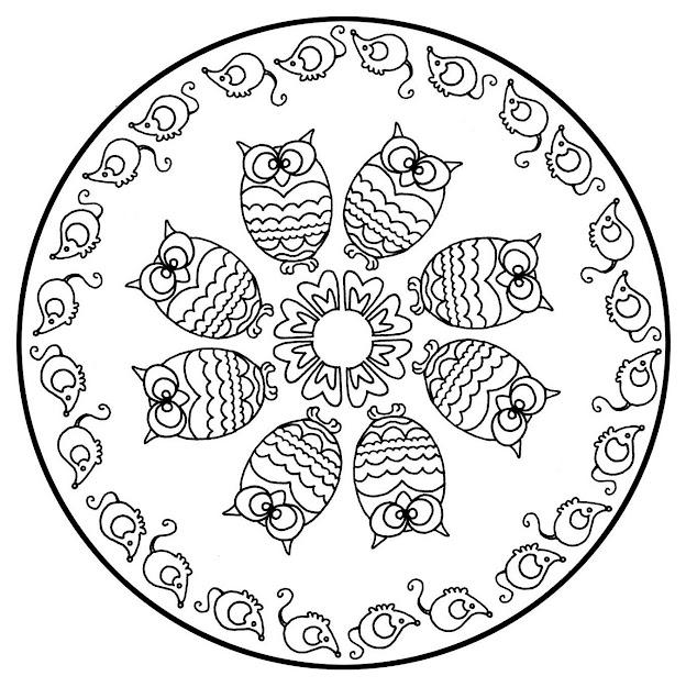Free Mandalas Page Mandalatocoloranimalsfreeowls