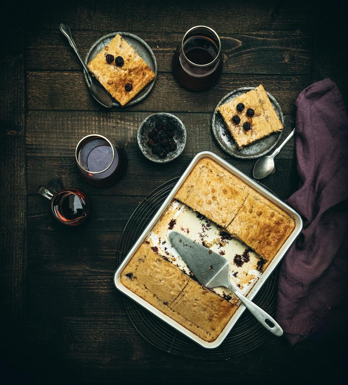 pancakes aux mures, brunch