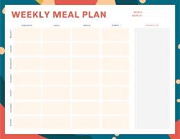 Colorful Weekly Meal - Weekly Planner item