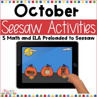 October Seesaw Activities for Kindergarten