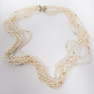 14K Gold and Seed Pearl Six-Strand Necklace