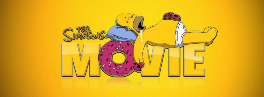 The simpsons movie facebook cover