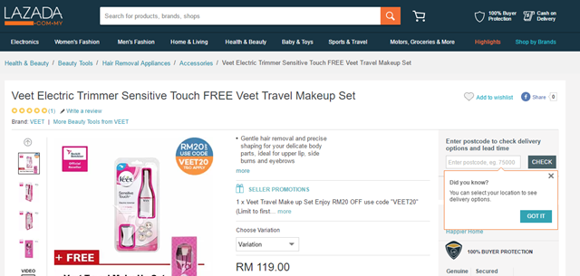 VEET SENSITIVE TOUCH REVIEW 12