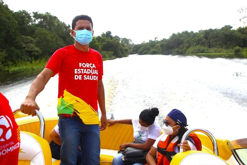 Onde o Maranhão mais precisa, tem a Força Estadual da Saúde ajudando na vacinação