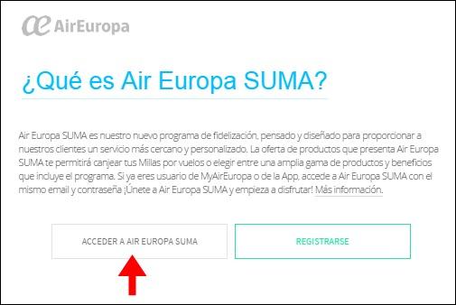 Abrir mi cuenta Air Europa - 706