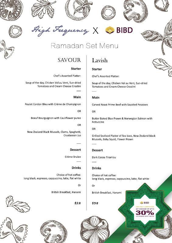 HF Ramadan 2018 Set Menu