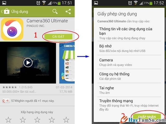Chấp nhận cài đặt game, ứng dụng trên Android