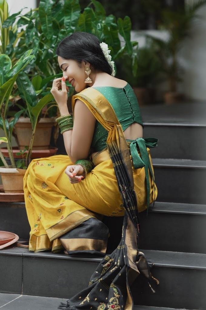 Ramya Subramanian glows in her latest gorgeous looks in yellow Saree