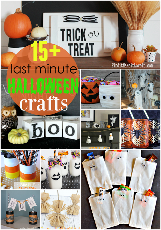 15  Last Minute Halloween Crafts at GingerSnapCrafts.com