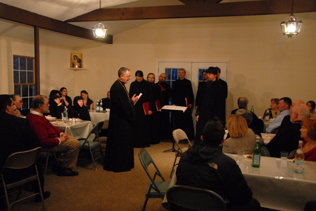 Fr. John thanks the visitors and Octet once again, and offers them a gift of financial stewardship on behalf of the parish.