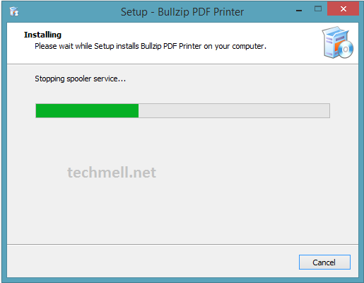Installation Setup for Bullzip PDF Printer in Windows 8.1