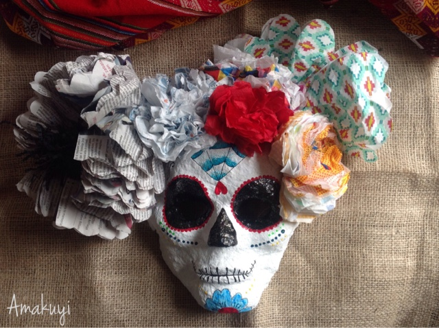 Máscara-Catrina-carnavales-pasta-De-papel-desafío-Handbox-Innspiro