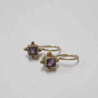 Vermeil and Amethyst Pendant Earrings