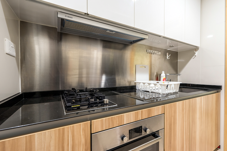 Fully equipped kitchen at Tanah Merah Apartments