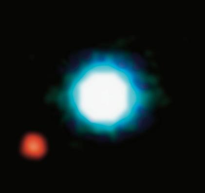 exoplaneta 2M1207b em órbita da estrela anã marrom