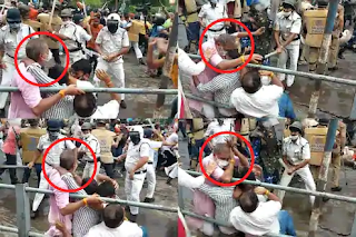 west-bengal-police-lathi-charge-tear-gas