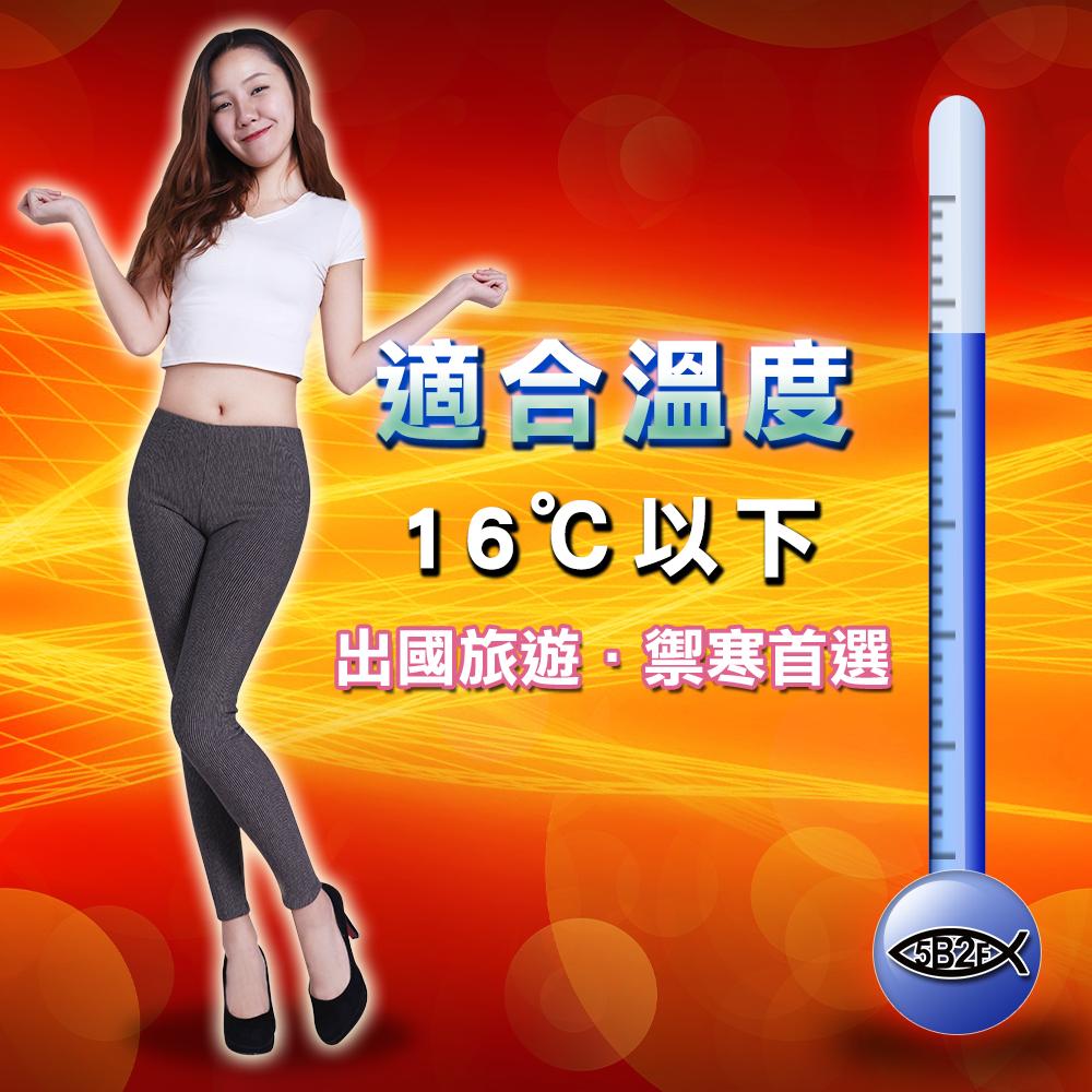 直紋 蓄熱 保溫 單向 導師 超厚 刷毛 內搭褲 褲子 出國 保暖 5B2F 五餅二魚