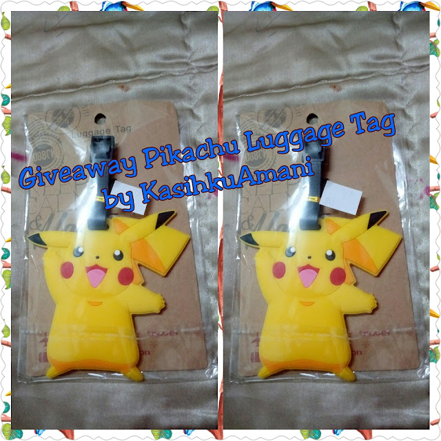 """Giveaway Pikachu Luggage Tag by KasihkuAmani"""