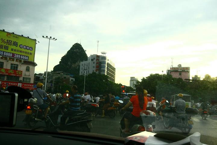 Crowded roads in China