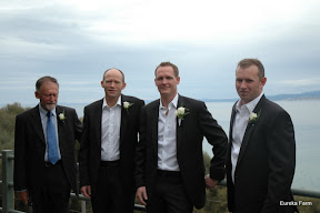 peter, Dad , and the grooms men, Kristan and Andrew