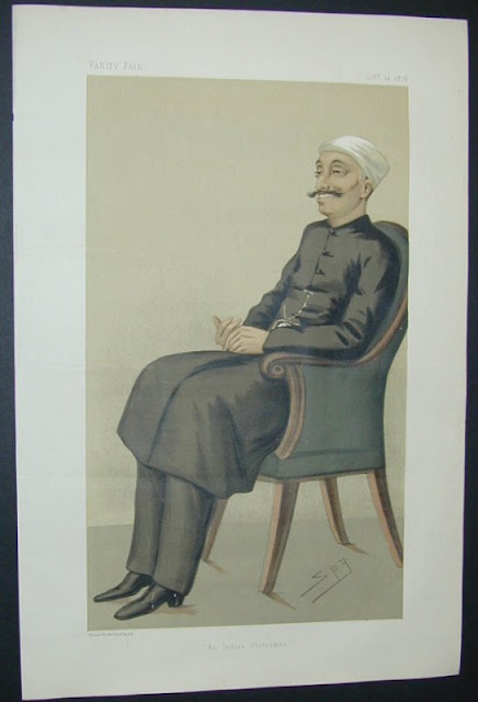 Sir Salar Jung; a caricature from 1876