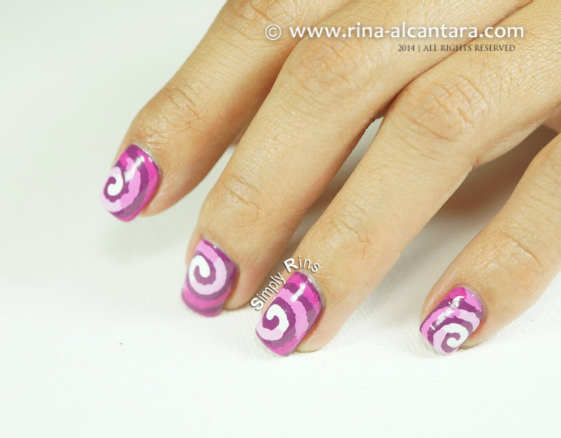 Radiant Orchid Nail Art Design