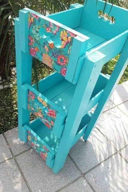 Ideias com caixotes de madeira feira